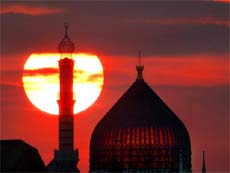 Satellite-- There has been an upward trend in building new mosque in Germany.
